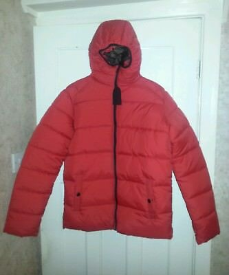 New NEXT Boys Red Padded Jacket Coat Age 16 Years BNWT