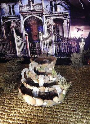 Halloween Christmas ROCK Water FOUNTAIN  Pond with waterfalls,Village Dept 56