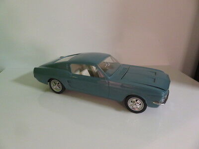 Wen Mac Mustang-Blue-1960's-Promo Model-Battery Operated-Ford Mustang-Nice Shape