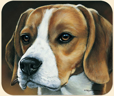 MOUSE PAD-Beagle Portrait--Polyester Front Neoprene Back **Beautiful**
