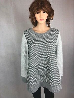 Liz Lange Maternity Women's XL Cable knit Long sleeve Sweater Pullover Striped