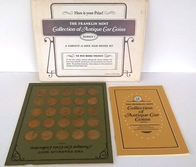 Vintage The Franklin Mint Antique Car Coin Collection, 1 Series , 1968 25 Coins