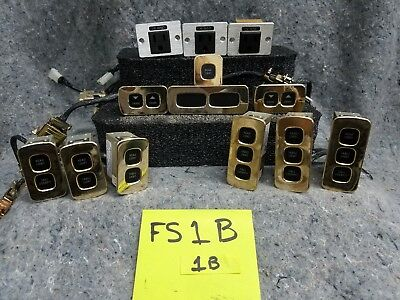 Lot of 13 Old Airplane Interior Control Panels and Plugs FS1B1B