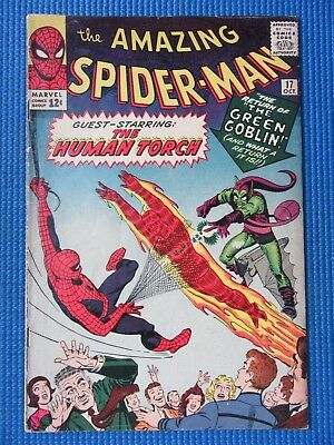 Amazing Spider-Man # 17 - (Fine) - 2Nd App Of The Green Goblin, Human Torch