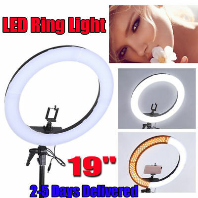 19 inch 55W 240PCS LED SMD Dimmable 5500K Ring Video Light W/Color Filter Kit