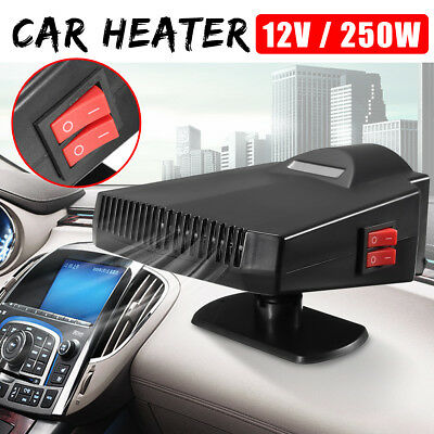 250W Car Heater Portable PTC Fan Heating Vehicle Ceramic Defroster Demister 12V