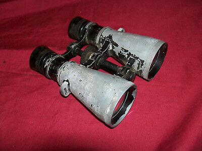 Mystery Binoculars Old Vintage Made in USA USN Navy Army Military WWII WW2 Small