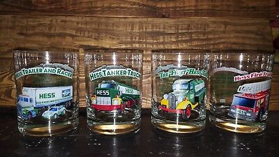 Hess Collector 1996 Series Toy Truck Glass Tumblers