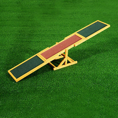 Pet Seesaw Dog Training Agility Equipment Wooden Toy Exercise Playing