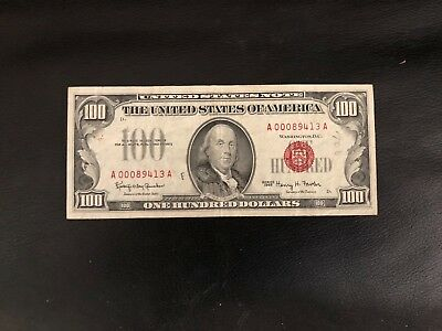1966 $100 United States Note--Fr. 1550, Legal Tender, Very Fine ++