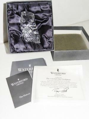 "Bargain - WATERFORD ""The Crystal Glass Owl Sculpture"" Original Box - Ireland"