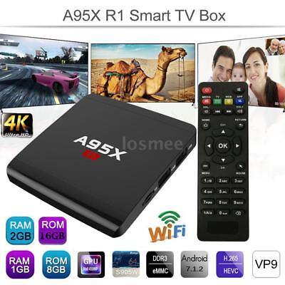 4K A95X R1 8GB/16GB Smart TV Box Android 7.1.2 WIFI Quad Core 3D Movie Player