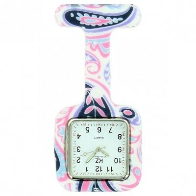 Montre Infirmière Silicone Arbesques Roses KRAZY 111