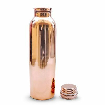 100% Pure Copper Water Bottle For Yoga Ayurveda Health Benefits 950 ml FreeShip