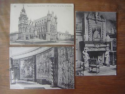 Lot de 3 cartes de GAND - GENT ( Exposition Universelle de 1913 )