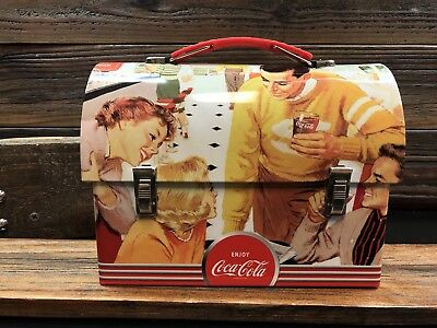 """coke lunch box """"Mighty Refreshing"""" Workman Carry all style tin Box Co."""