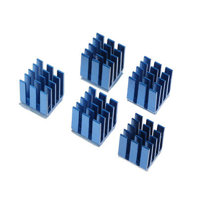 Pack of 5 3D Printer Mainboard Parts A4988 Heat Sink Kit Cooling Kit Blue