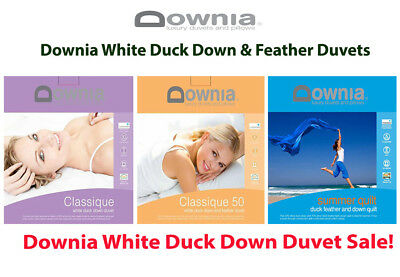 Downia White Duck Down & Feather Classique & Summer Collection Doona | Duvet