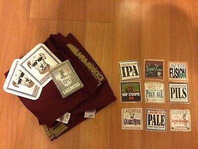 Lagunitas Brewery Lot Of Shirts Cards Coasters And Stickers
