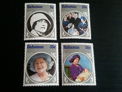 Bahamas 1985 Sg 712-715 Life And Times Of Queen Mother Mnh