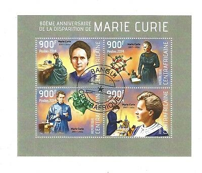 stamp sheet - CTO - MARIE CURIE