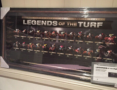 Legends of the Turf L/E SIGNED Racing Print Framed Royalty of the last 50 Years