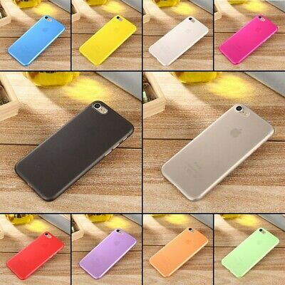 Ultra Thin  for iPhone X 8 SE 7 6S 6 Plus 5 Matte Hard Back Case Cover Protector