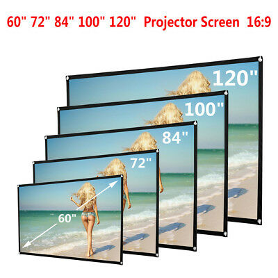 "Portable 60-120"" HD Projector Screen 16:9 Home Cinema Theater Projection Hot"