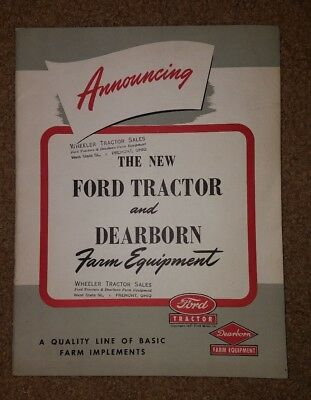 Vintage 1947 Ford Tractor Dearborn Farm Equipment Product Implements book RARE
