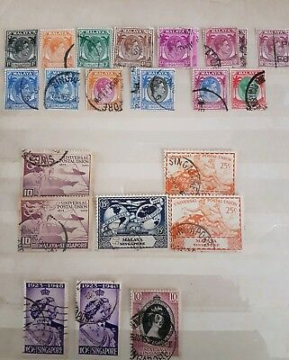 SingaporeJob Lot Of19 Stamps Used