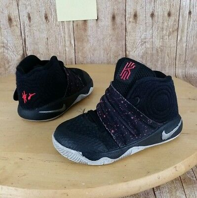 de672f18587d NIKE KYRIE 2 Toddler Boy Basketball Sneaker Shoes Black Red Size 6C ...