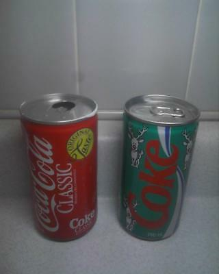 Coca-Cola Coke Classic Soda Cans Pop Art  aluminum Canada 280ml Reindeer Holiday