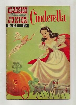 Classics Illustrated Junior Cinderella No 503 December 1953