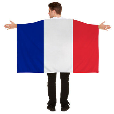Wearable French France Body Flag Cape World Cup 2018 Fancy Dress