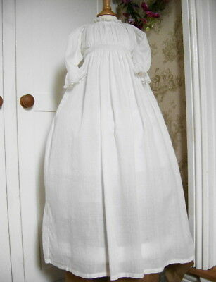 **very Pretty Antique Victorian Hand Sewn Lace Christening Gown**