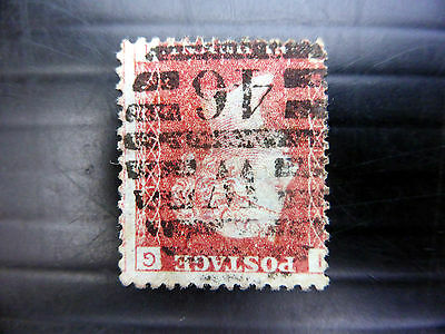 GB 1864 - 1d Red INVERTED/WMK Plate 17 Good/Used NEW PRICE FP7410