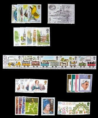 GB 1980 Commemorative Complete Year Collection 9 Sets U/M NC515