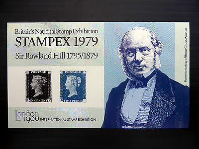 GB 1979 Penny Black Rowland Hill Stampex M/Sheet FP7135