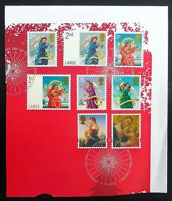 GB 2007 Xmas Complete Set (8) Fine/Used on Part Cover NB3866