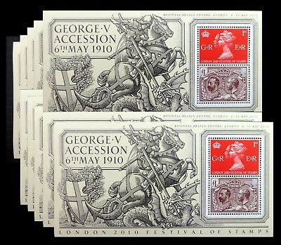 GB 2010 Festival of Stamps M/Sheet with OPT Limited Edition x 10 in Lot NF649