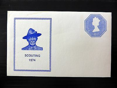 GB Sheets 1974 Scouts Postally Valid Machin Souvenir Sheet Numbers Ed FP8556