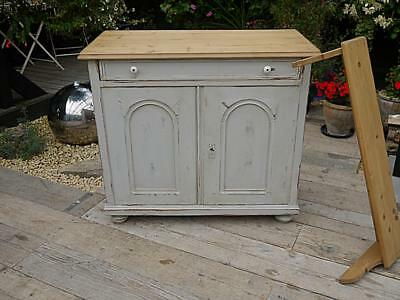 Old Antique Pine & Painted Dresser Base/sideboard/cupboard/cabinet. We Deliver!