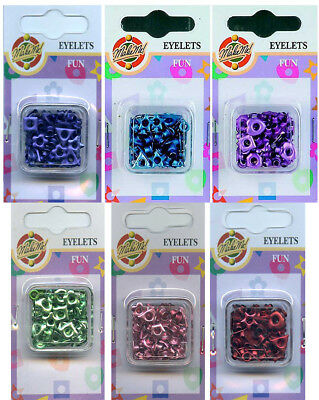 Eyelets Fun Mix, Round and Shaped, Pack of approx 72