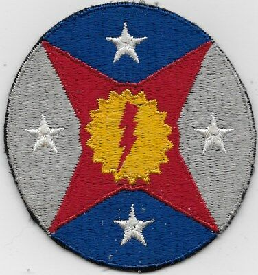 """Ex/r/orig Wwii """"4Th Air Depo Group, 5Th Aaf"""" Squad Patch - F/emb Cotton Thread"""