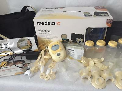 Medela Freestyle Double Breast Pump Hands Free With Accessories & Power Cord