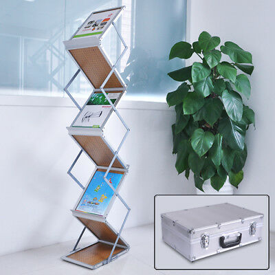 Portable Popup Tradeshow Brochure Holder Magazine Display Racks ZED Literature