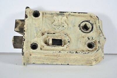 Antique Fancy Entry Mortise Door Lock Eastlake Victorian Large