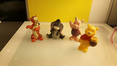 Disney Winnie the Pooh Rubber Figurines Piglet Eeyore and Tigger too Decent Cond