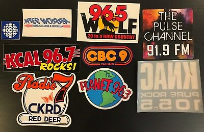 Radio Station Sticker Decal Set Assortment of 9 New