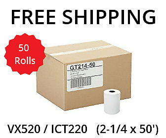 "VERIFONE vx520 (2-1/4"" x 50') THERMAL RECEIPT PAPER - 50 ROLLS **FREE SHIPPING**"